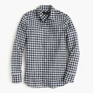 J. Crew Gingham Button Down Top